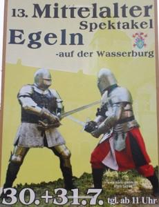 Mittelalterspektakel auf der Wasserburg in Egeln