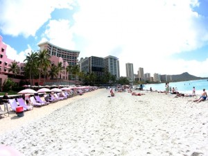 Strand vor dem Royal Hawaiian Hotel